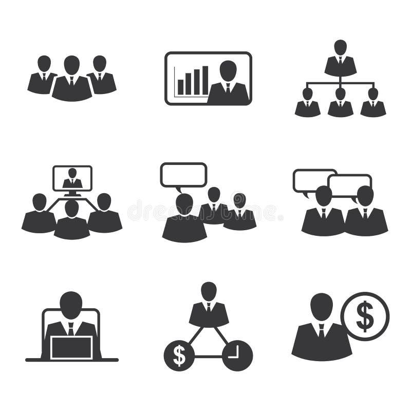 Pictogram bedrijfsbureau stock illustratie