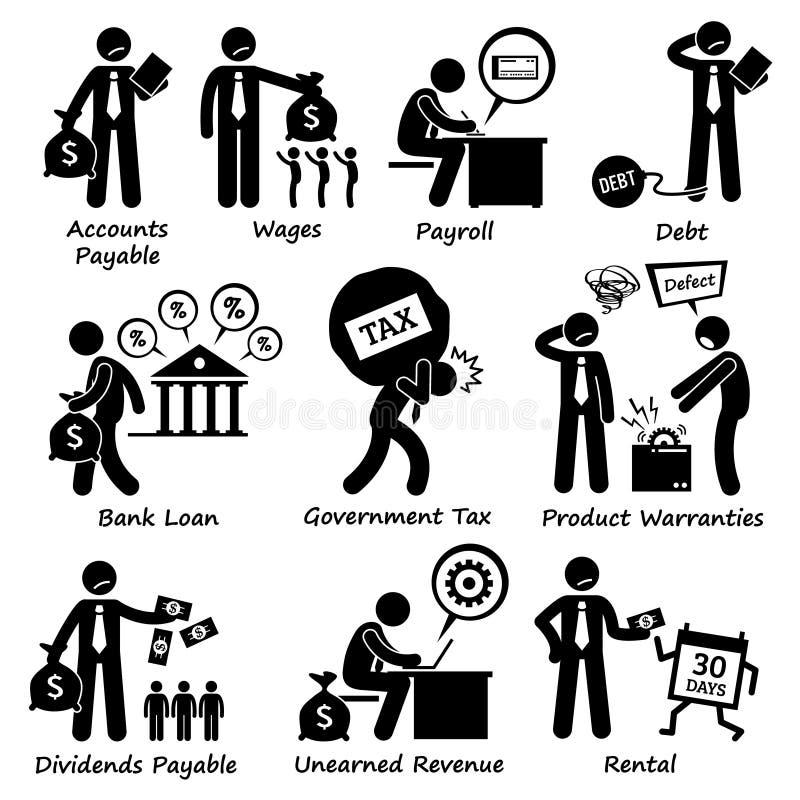 Pictogram Clipart för företagsaffärsansvar vektor illustrationer