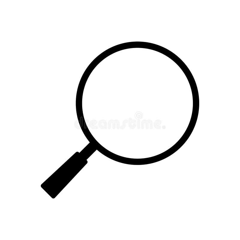 Pictogram eenvoudig ontwerp voor de vectortekening van de onderzoeksknoop stock illustratie