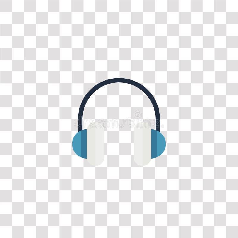 pictogram en symbool van de hoofdtelefoon het pictogram van de hoofdtelefoonkleur voor websiteontwerp en mobiele app ontwikkeling stock illustratie