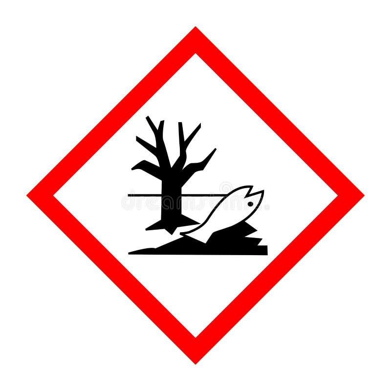 Pictogram for environmentally hazardous substances. Illustration royalty free illustration