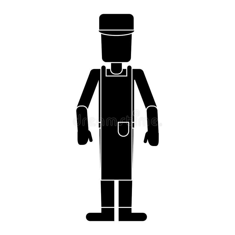 Pictogram för anställd för arbetarmanockupation vektor illustrationer