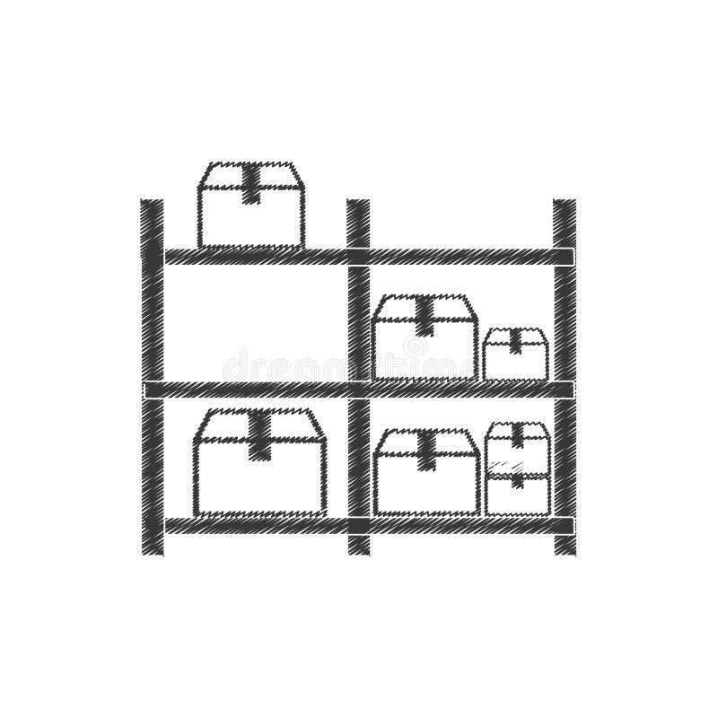 pictogram för askar för teckningslagerlagring vektor illustrationer