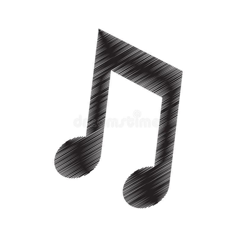 pictogram för attraktion för anmärkningsmusikljud stock illustrationer