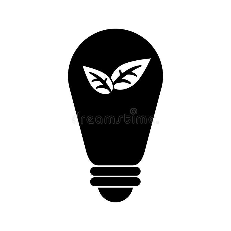 Pictogram för blad för energi för kulamiljö ekologisk stock illustrationer