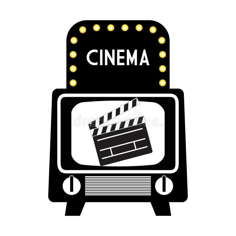 pictogram för clapper för biotappningtelevision royaltyfri illustrationer