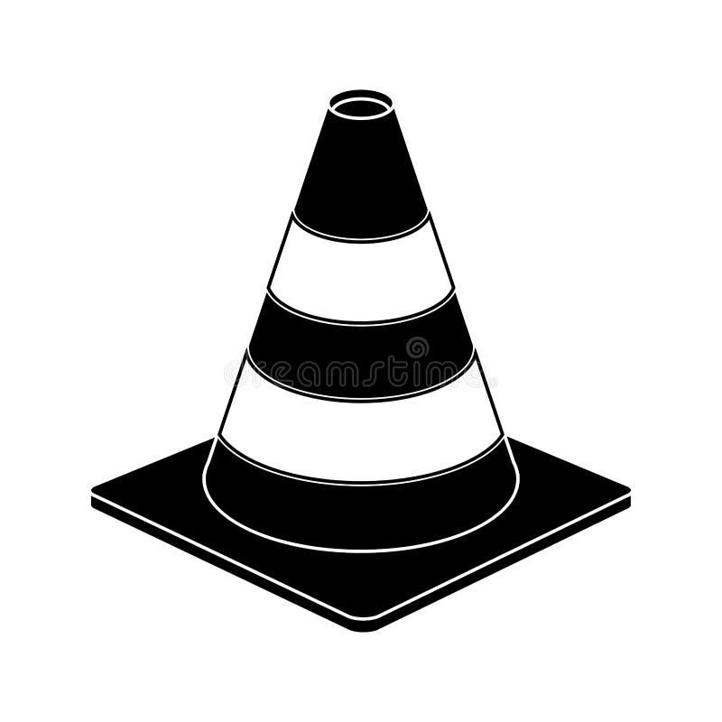 Pictogram för design för tecken för trafikkottevarning royaltyfri illustrationer