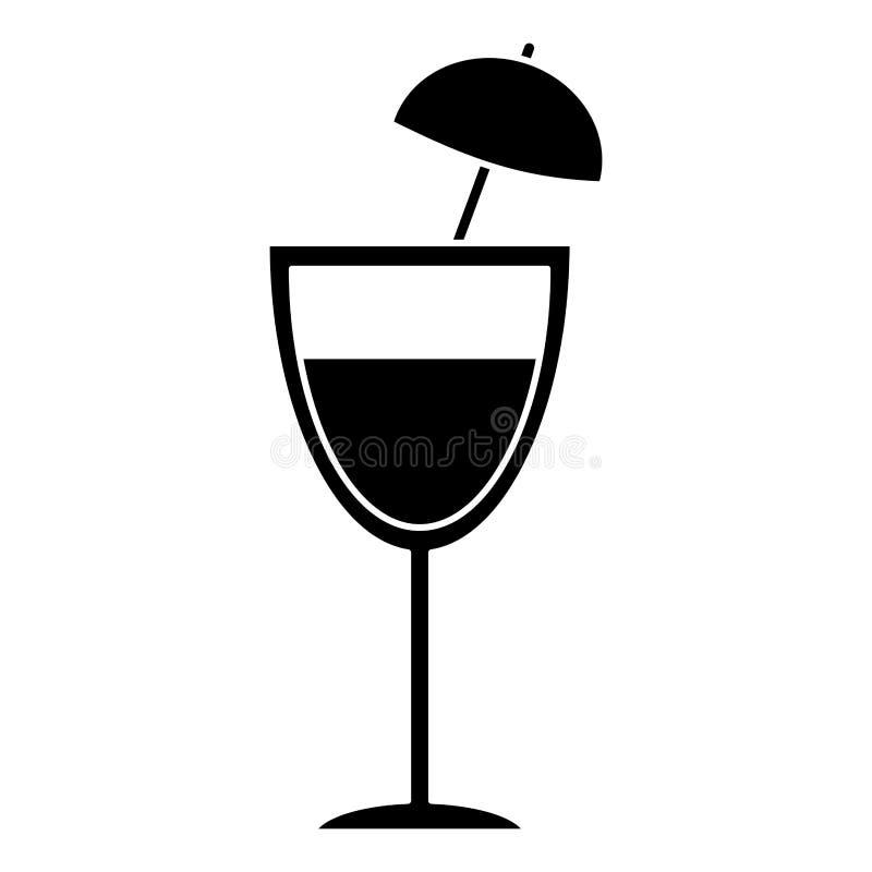 pictogram för drink för coctailkoppparaply royaltyfri illustrationer