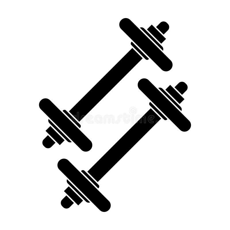 pictogram för dummbellviktkondition stock illustrationer