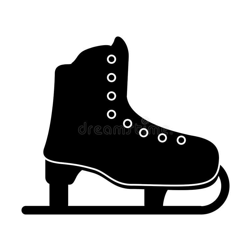 pictogram för fritid för sport för isskridsko royaltyfri illustrationer