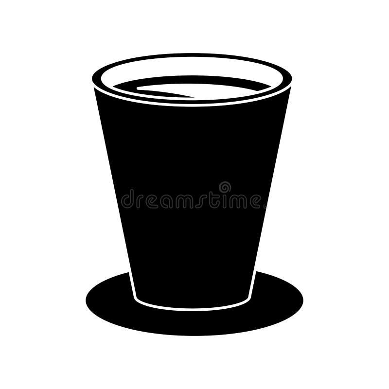 Pictogram för frukost för chokladkoppdryck stock illustrationer