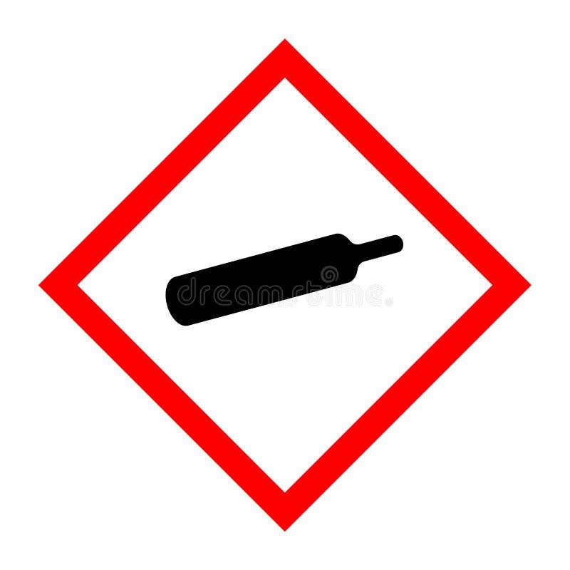 Pictogram för gasflaskor stock illustrationer