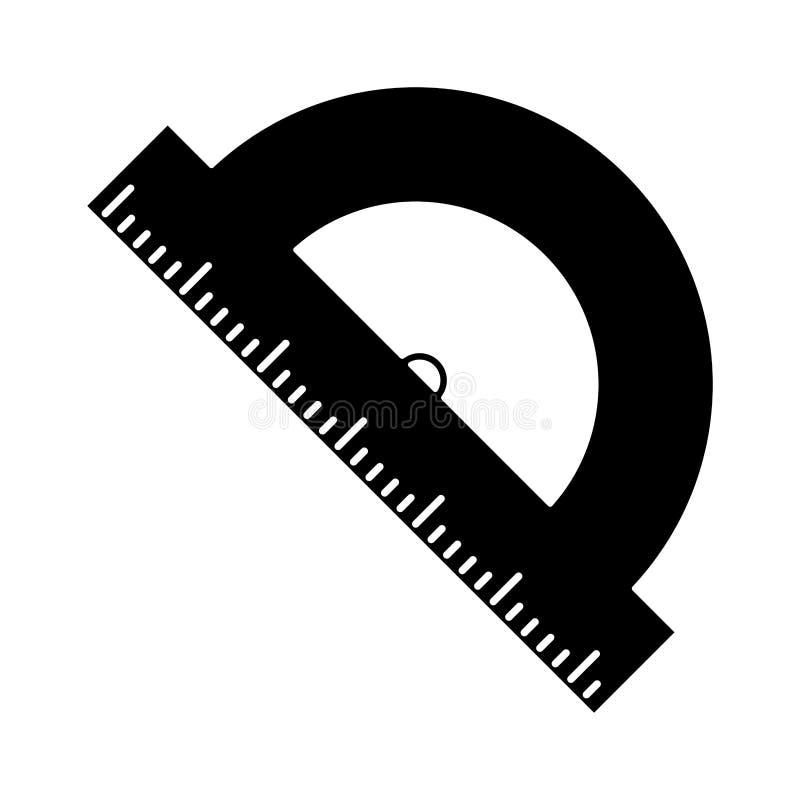 pictogram för geometriprotactorskola vektor illustrationer