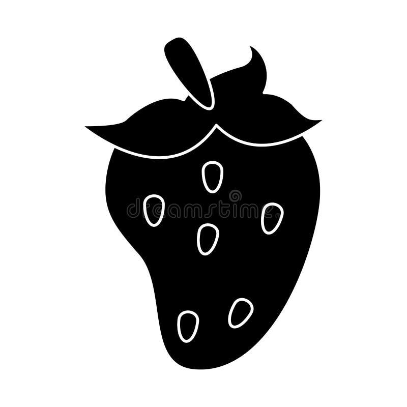 pictogram för jordgubbefruktnäring vektor illustrationer