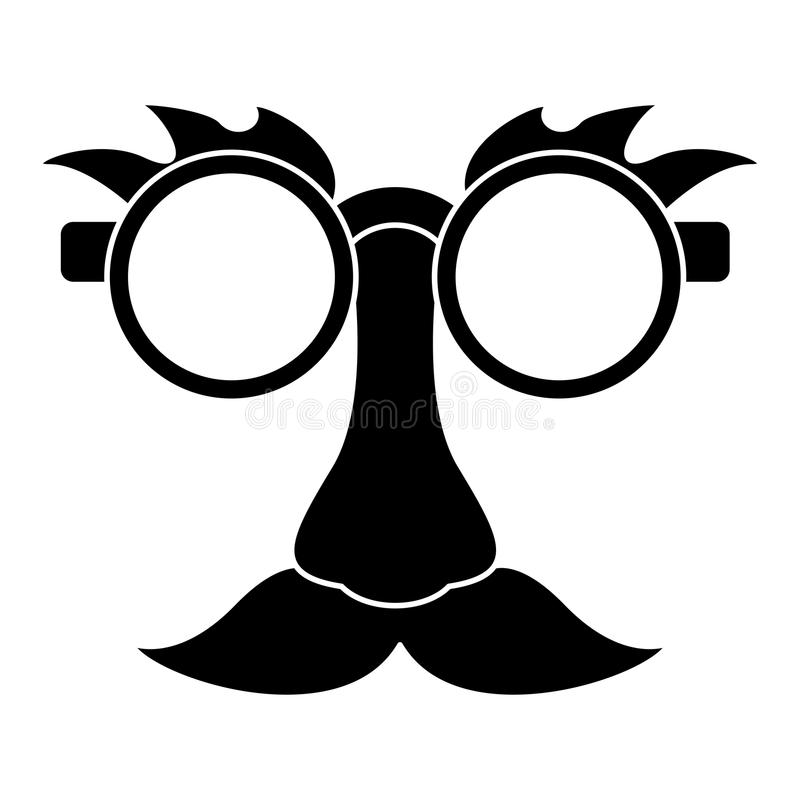 pictogram för komiker för maskering för april dumbom stock illustrationer