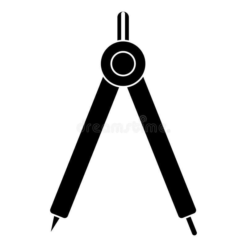 pictogram för kompassgeometriskola stock illustrationer