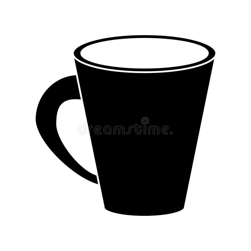 Pictogram för kräm för Americano kaffekopp royaltyfri illustrationer