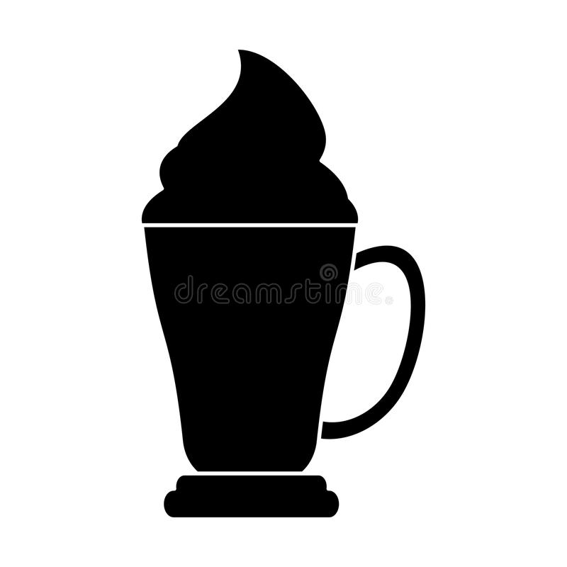 pictogram för kräm för espresso för kaffekopp royaltyfri illustrationer
