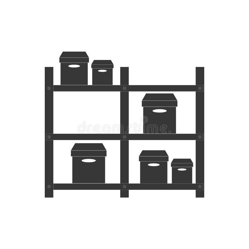pictogram för lagerkartongleverans royaltyfri illustrationer