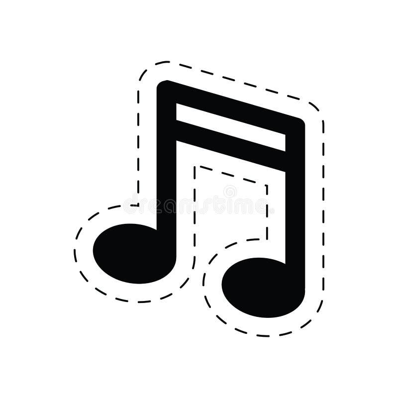 pictogram för melodi för anmärkningsmusikljud royaltyfri illustrationer