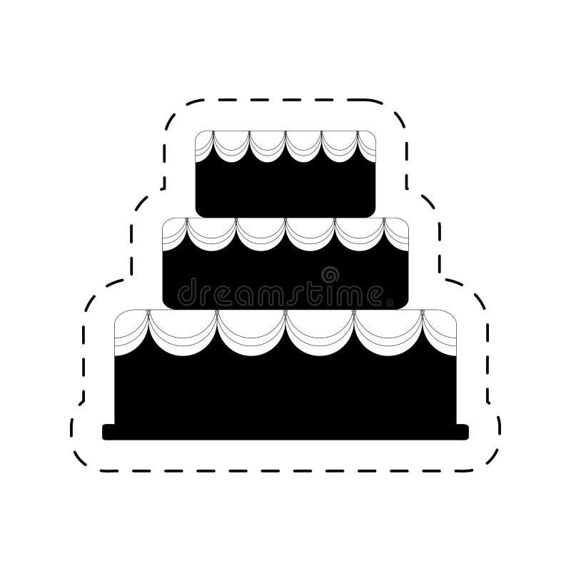 pictogram för parti för beröm för kakabageriefterrätt vektor illustrationer
