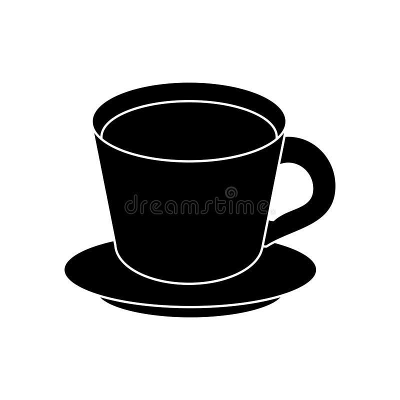 pictogram för platta för kaffekopp royaltyfri illustrationer