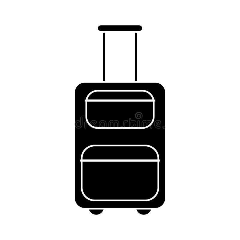 pictogram för resväskautrustninglopp stock illustrationer