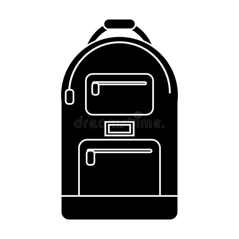 pictogram för ryggsäckskoladesign vektor illustrationer