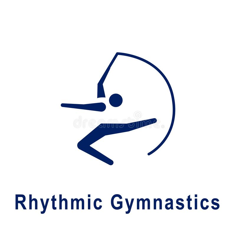 Pictogram för rytmisk gymnastik, ny sportsymbol royaltyfri illustrationer