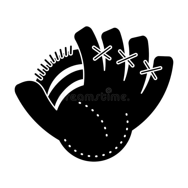 pictogram för sport för baseballhandske royaltyfri illustrationer