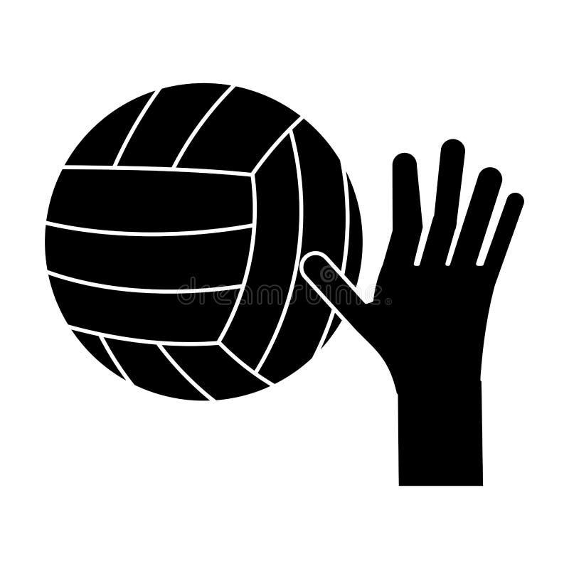 pictogram för sport för handvolleybollboll stock illustrationer