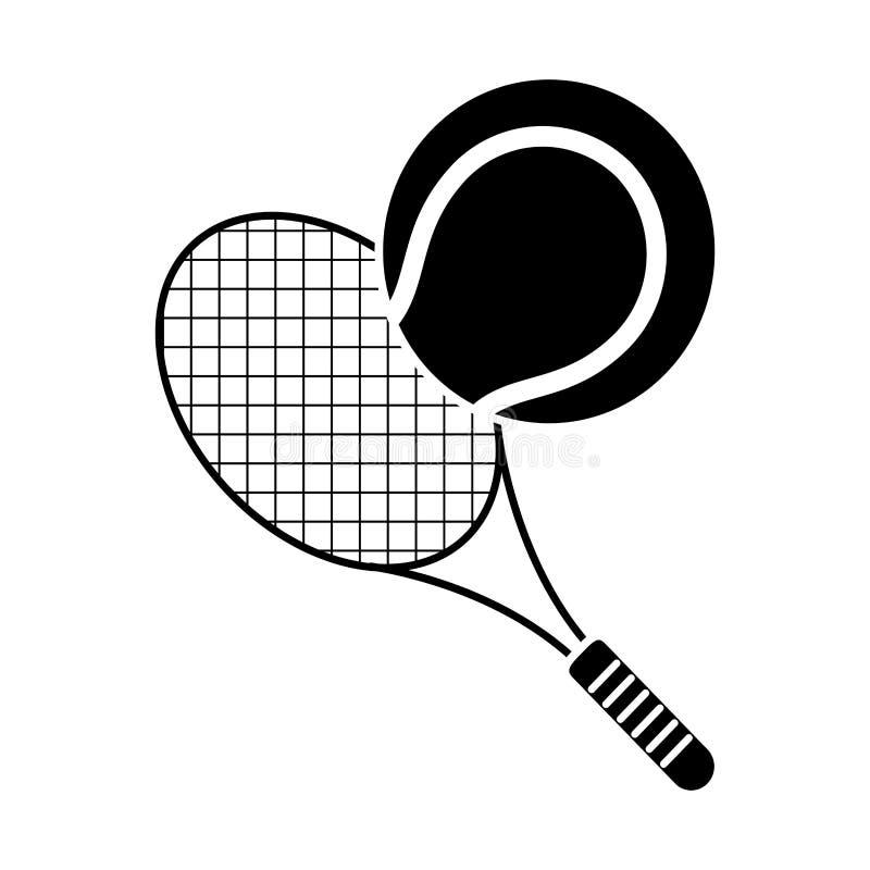 pictogram för sport för racket för tennisboll vektor illustrationer