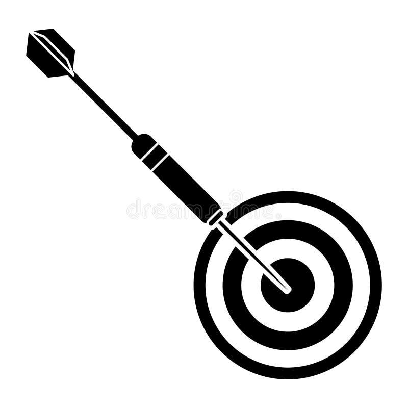 pictogram för sport för targertpillek stock illustrationer