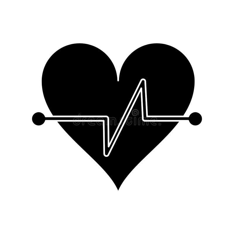 pictogram för symbol för kondition för hjärtatakt stock illustrationer