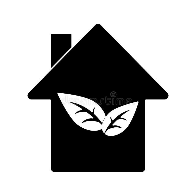 Pictogram för symbol för konstruktion för miljöhusekologi royaltyfri illustrationer