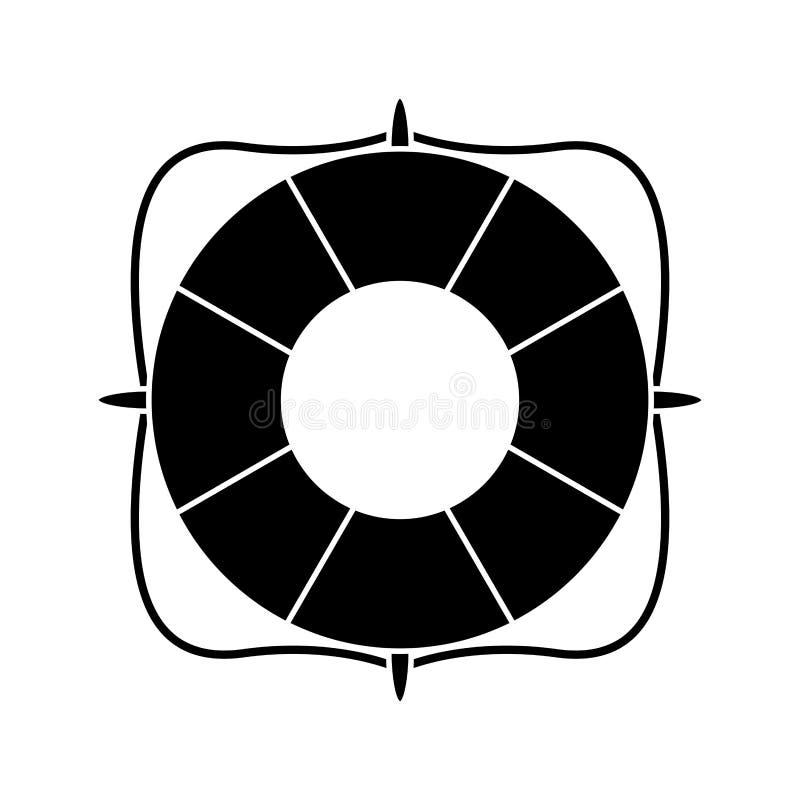 pictogram för symbol för livboj marin- royaltyfri illustrationer