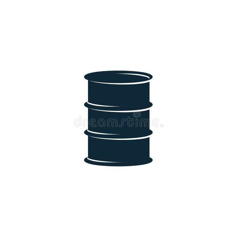 Pictogram för symbol för trumma för olje- bränsle för vektor enkel plan royaltyfri illustrationer