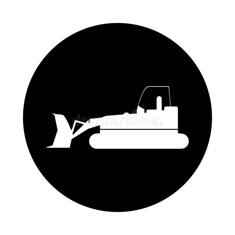 Pictogram för tecken för bulldozerlastbilkonstruktion vektor illustrationer