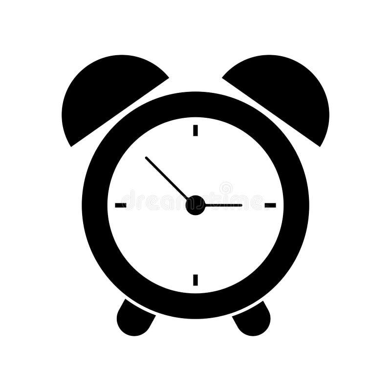 pictogram för timme för larm för klockatid vektor illustrationer