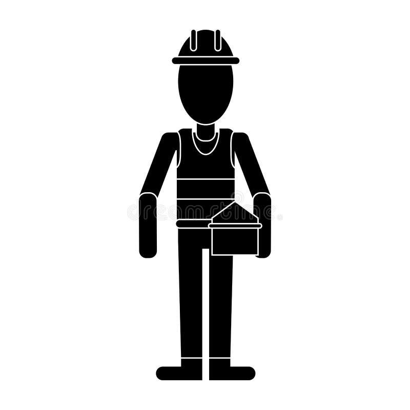 Pictogram för toolbox för arbetarreparationsservice vektor illustrationer