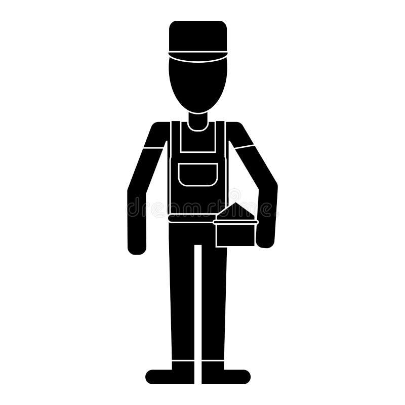Pictogram för toolbox för mankonstruktionsreparation vektor illustrationer