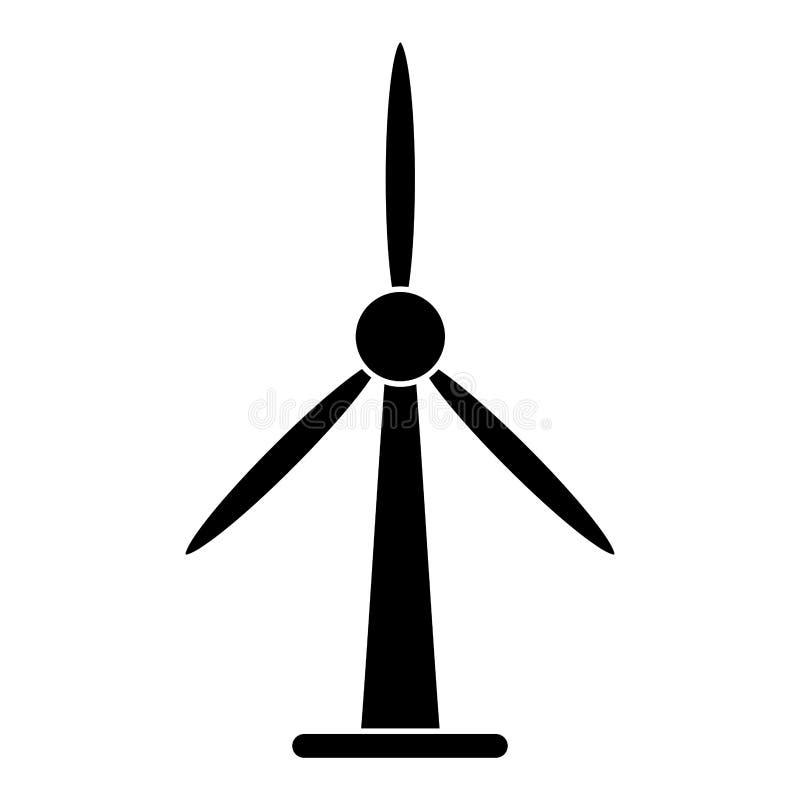 Pictogram för torn för energi för vindturbin bio royaltyfri illustrationer