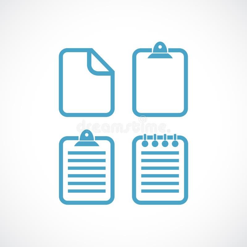 Pictogram för vektor för dokument för textmapp stock illustrationer