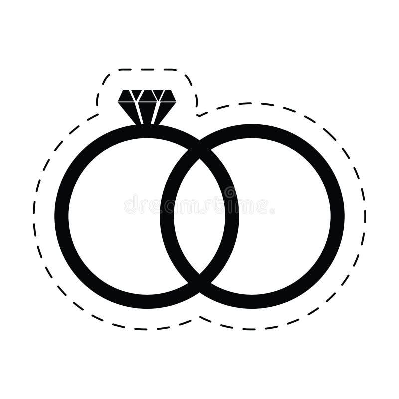 pictogram för vigselringdiamantlyx stock illustrationer