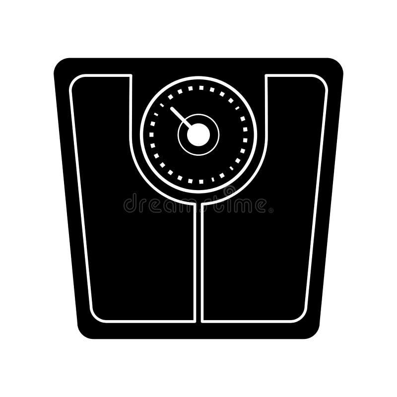 pictogram för viktskalabadrum stock illustrationer