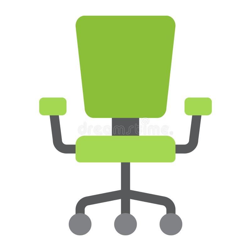 Pictogram, het Meubilair en het binnenland van de bureaustoel het vlakke vector illustratie