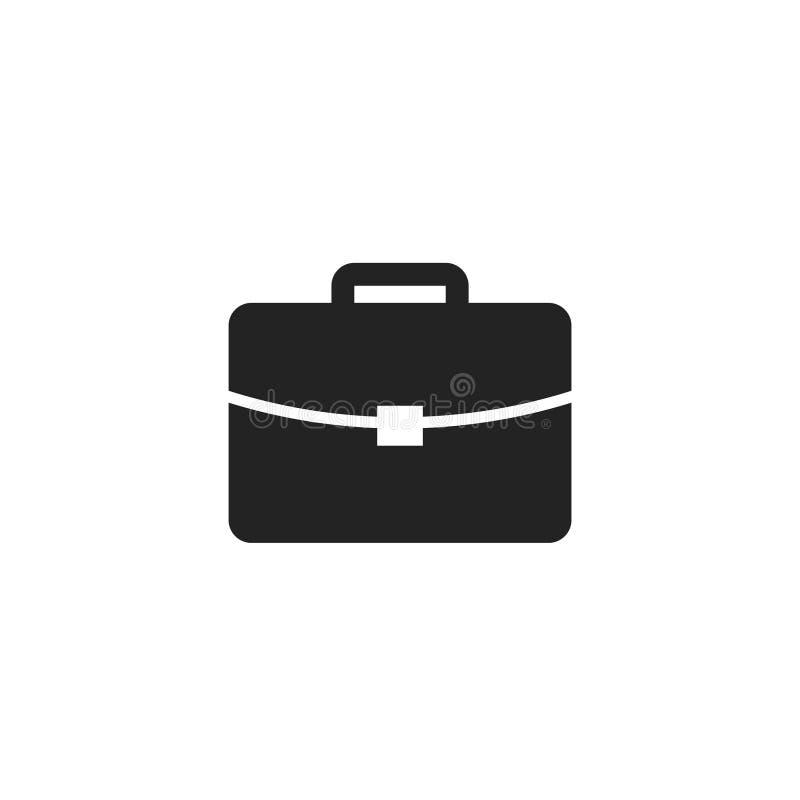 Pictogram, het Symbool of het Embleem van aktentasglyph het Vector stock illustratie
