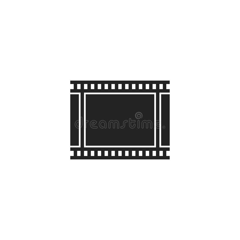Pictogram, het Symbool of het Embleem van Glyph van de filmband het Vector royalty-vrije illustratie