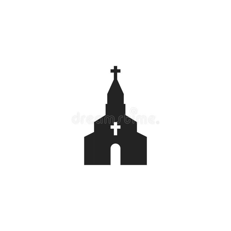 Pictogram, het Symbool of het Embleem van kerkglyph het Vector royalty-vrije illustratie