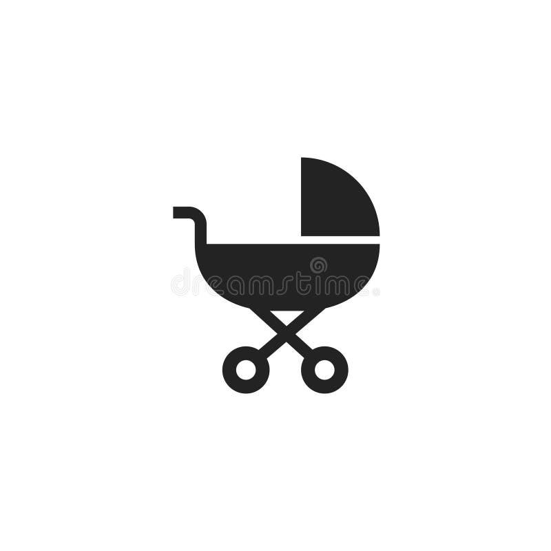 Pictogram, het Symbool of het Embleem van kinderwagenglyph het Vector vector illustratie